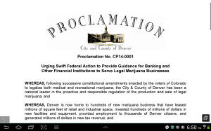 Urging Swift Federal Action to Provide Guidance for Banking and Other Financial Institutions to Serve Legal Marijuana Businesses