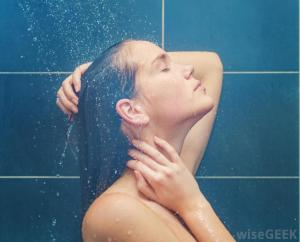 woman-in-shower