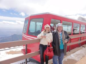 Deb and Karla at the top of Pikes Peak.