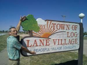 Ronn Nixon entering the Town of Log Lane Village