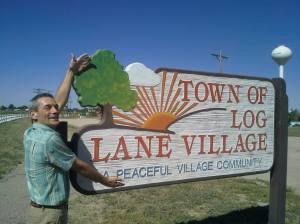 Ronn Nixon entering the Town of Log Lane Village
