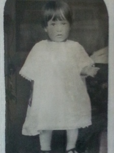 The only photo I have of my mother from her childhood.