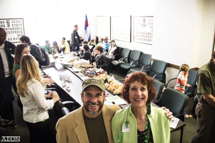 Greg Duran and Teri Robnett at Cannabis Patients Day at the Capitol