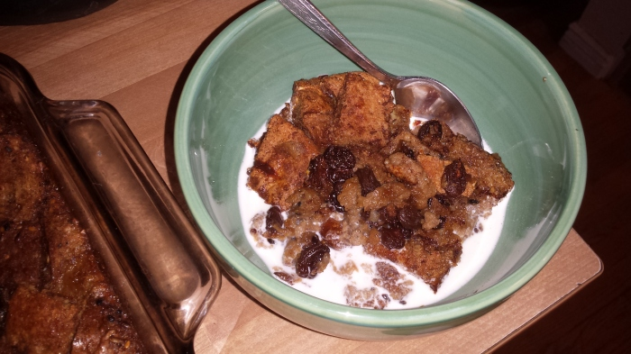 Canna-Butter Bread Pudding
